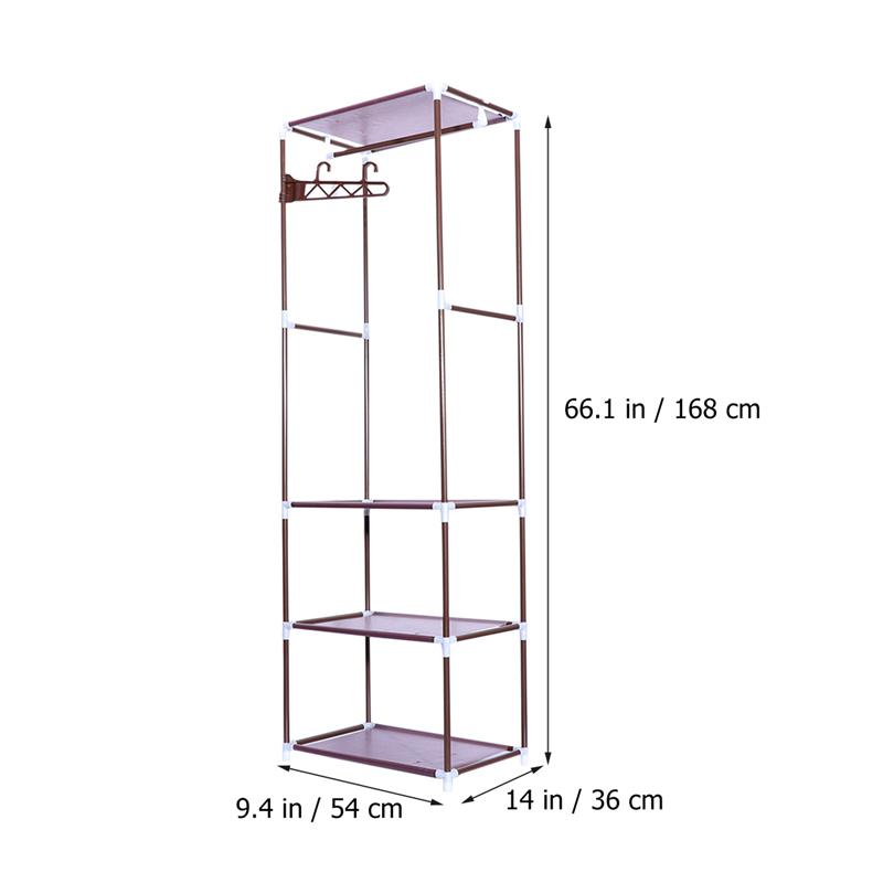 Home Improvement 1pcs Portable Clothes Rack Organizer Bedroom Garment Floor-standing Shelf Clothing Coat Rack Storage Stand
