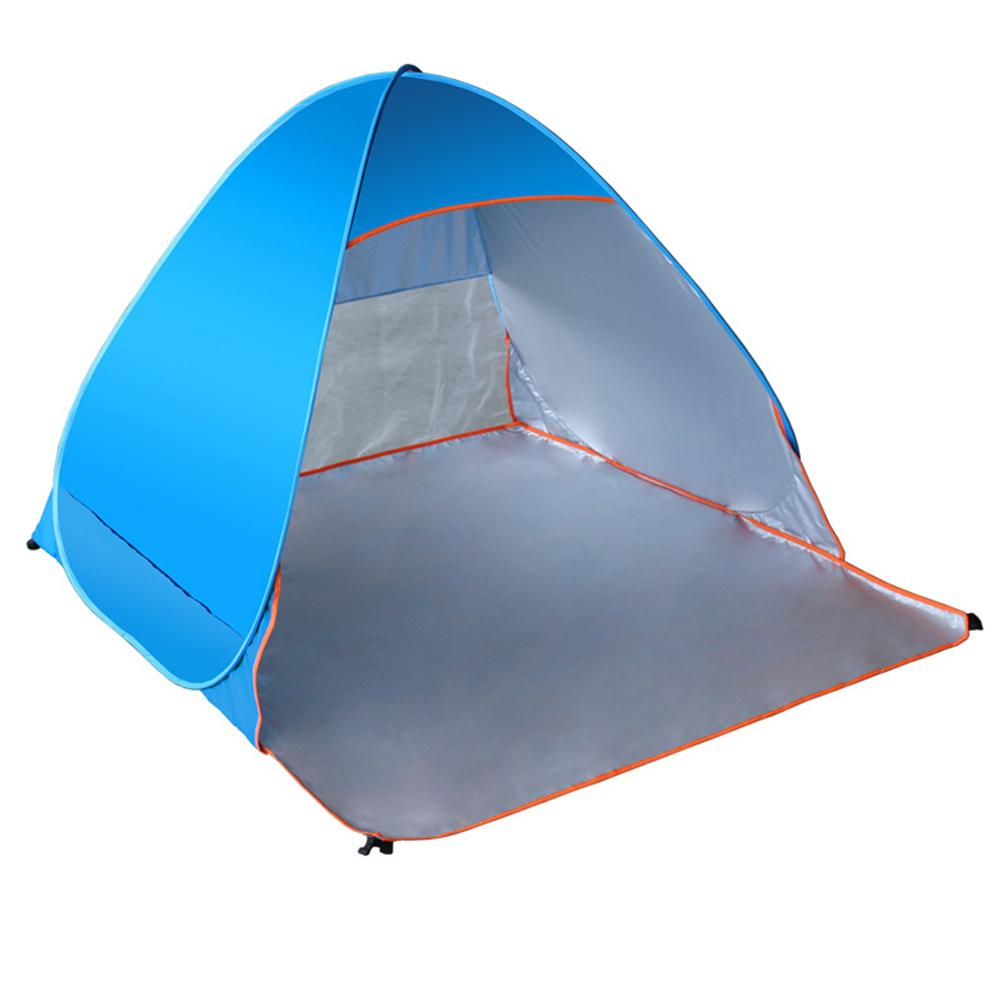 on sale 0247f 2c14f US $30.42 29% OFF|Mounchain Folding Beach Tent Automatic Pop Up Tents  Outdoor Camping Anti UV Sun Shade Shelter-in Tents from Sports &  Entertainment ...