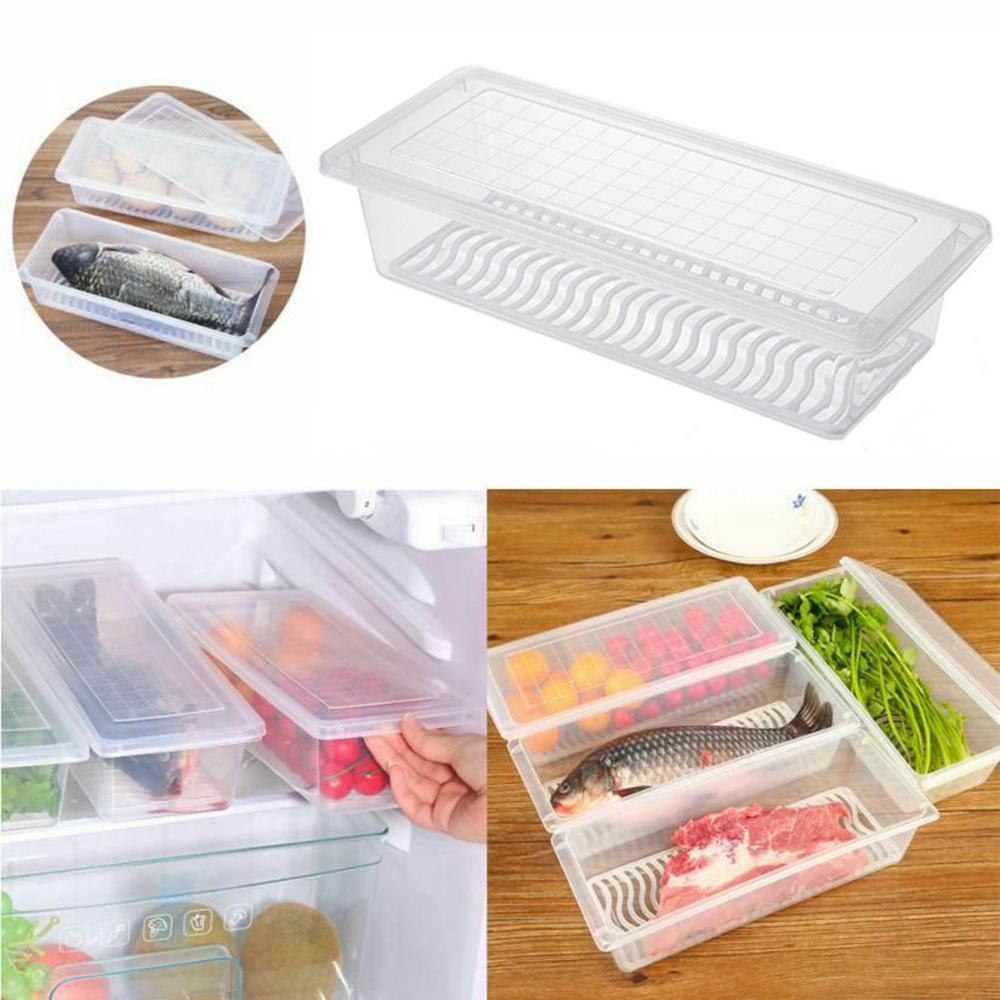 Kitchen Refrigerator Storage Box Food Container Fresh Spacer Layer Storage Rack Fresh Sort Organizer