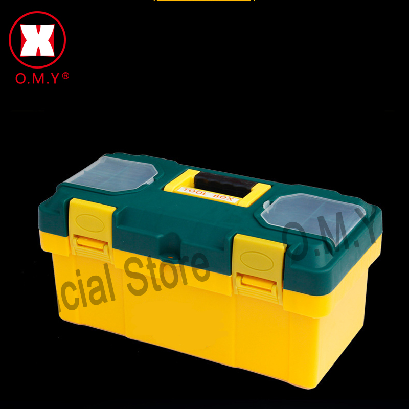OMY 19 inch plastic tool box with handle, tray,compartment, storage and organizers toolbox 45*20*21CM bicycle household tool box 17 inch plastic tool box with handle tray compartment storage and organizers toolbox 39 17 19cm