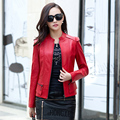 2016 Spring Autumn Women Leather Coat Female Faux Leather Jacket For Women Sheepskin Leather Jacket Motorcycle Jacket Women