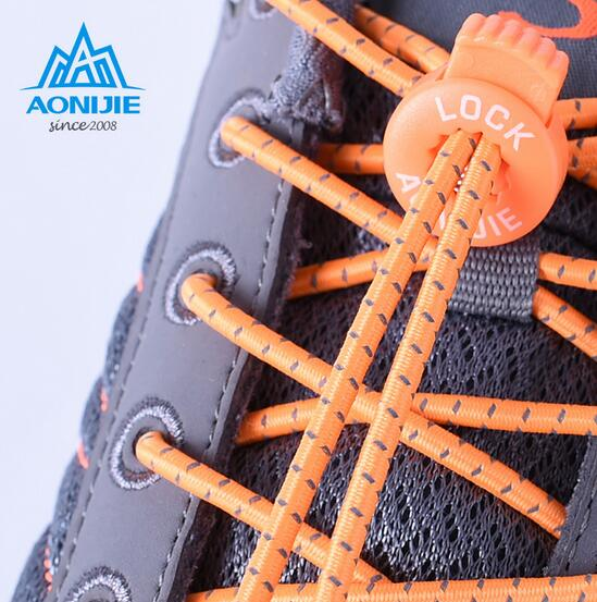 AONIJIE 120cm Men Women Outdoor Sports Reflective Laces Convenient Quick Safe Elastic Shoelace Climbing Running Riding Hiking