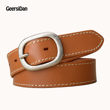 2019 New Vintage high quality cowski belts for women Fashion pin buckle Genuine Leather women belt for jeans riem ceinture femme weekend max mara pубашка