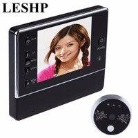3.5 polegada LCD Screen Display Digital Campainha de Alarme Sem Fio 120 Graus Wide View Visão Espectador Olho Mágico Noite 3X Zoom Doorbell
