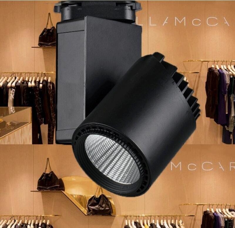 ФОТО Snyka 10W 20W 30W 35W 40W COB LED Track Light Bulb Cree chip spot light 85-265 Volt LED Wall Track Lighting Free shipping