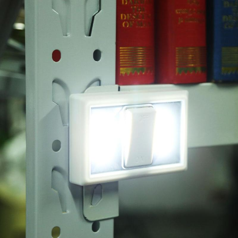 Mini White COB LED Lamp Home Emergency Light Switch Kitchen Magnetic Indoor Outdoor Wardrobe Closet Night Wall Light