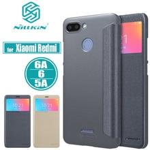 Xiaomi Redmi 6 6A 5A Case Nillkin Luxury PU Flip Leather Phone Smart View Protective Cover for Xiaomi Redmi 6A 6 5A Cases Capa