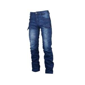 Image 4 - Jeans Mannen 2020 Cargo Elastische Taille Jean Broek Hoge Kwaliteit Klaring Tactische Denim Multi Pocket Man Broek Cargo Jeans Mannen
