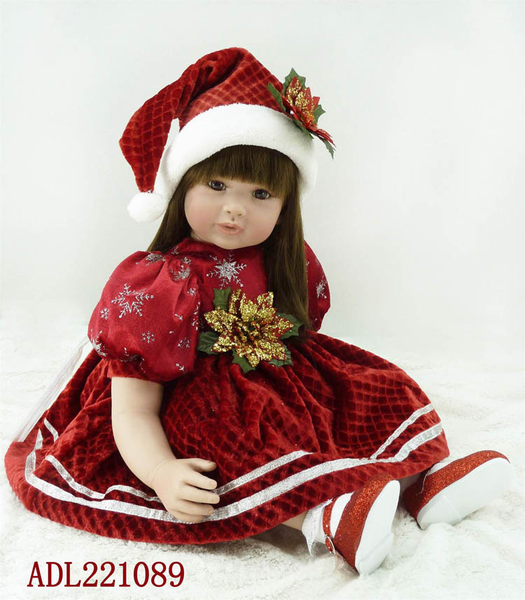 The new vinyl silicone reborn baby dolls accompany sleeping lifelike princess toddler doll kid high-end christmas boutique giftsThe new vinyl silicone reborn baby dolls accompany sleeping lifelike princess toddler doll kid high-end christmas boutique gifts