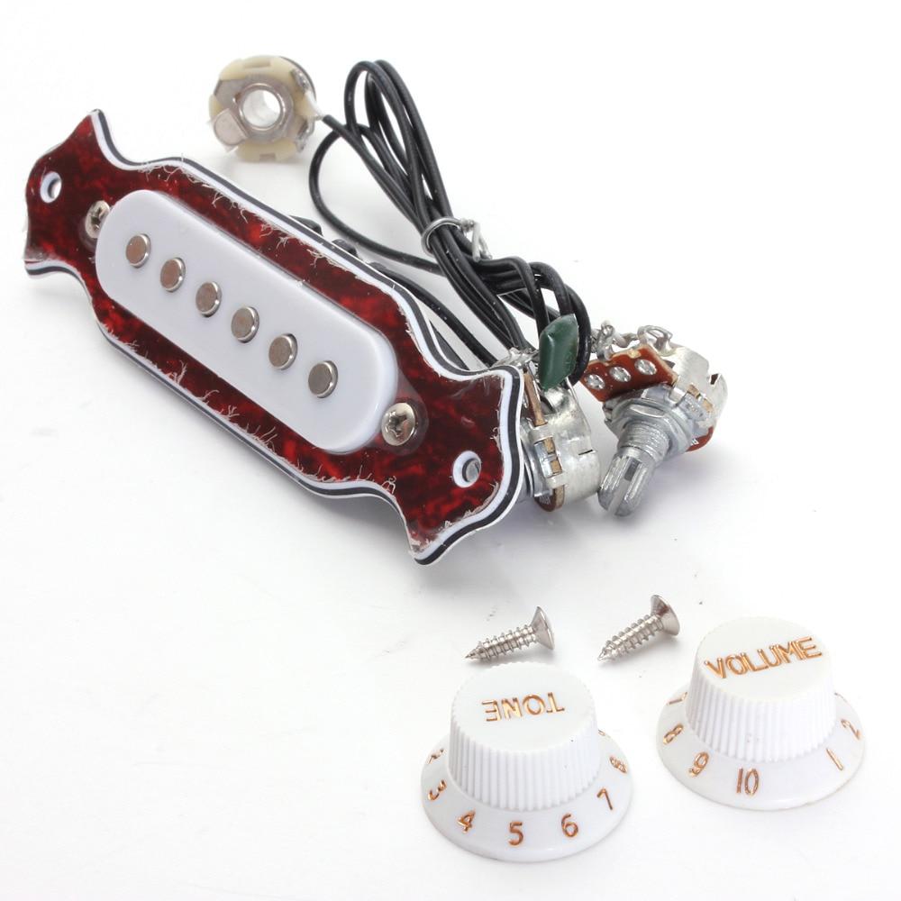 Haute qualité rouge   blanc cuivre simple bobine magnétique silencieux acoustique guitare électrique ramassage accessoires pièces