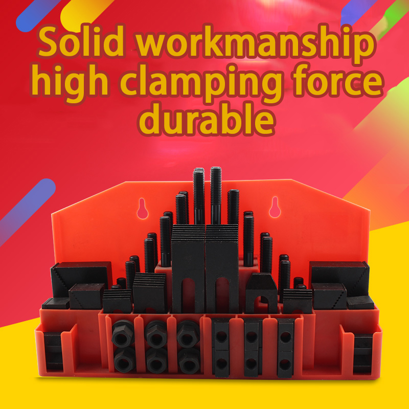 58 Piece Set Milling Machine CNC Machine Tool Processing Accessories Combination Platen Screw Clamp Connection Nut Tool