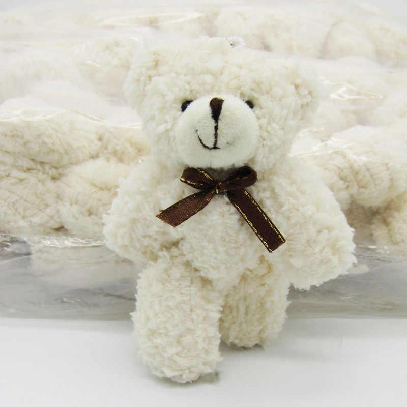 40 шт./лот Kawaii Малый совместное плюшевых мишек 12 см плюша с цепью белый игрушка Тедди-медведь, мини-медведь тед несет Игрушечные лошадки 0901
