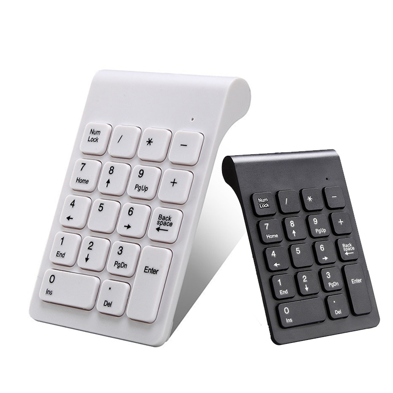 2.4G Wireless Number Pad USB Digital Keyboard With 19 Keys Mini Number Keypad Keyboard For Laptop Notebook PC Computer Keyboard