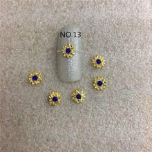 10 pcs/bag Golden New Style A Diamond Jewelry Blue And AB 3d Nail Art Decoration Ornament Sticker NO.11 NO12