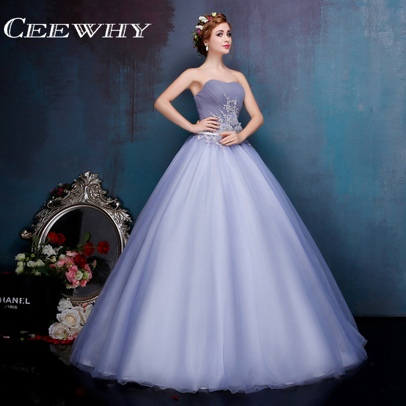 Strapless Ball Gown Women Luxury Formal Party Dress Floor