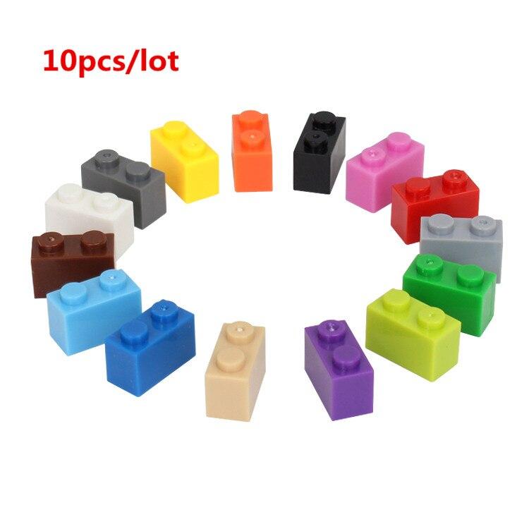 10 Teile/los 1*2 Diy Gebäude Block Dicken Bricks Kompatibel Mit Legoe Pädagogisches Spielzeug Multicolor Geschenk Für Kinder