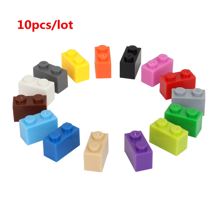 10pcs/lot 1*2 DIY Building Block Thick Bricks Compatible with Legoe Educational Toy Multicolor Gift for Children10pcs/lot 1*2 DIY Building Block Thick Bricks Compatible with Legoe Educational Toy Multicolor Gift for Children