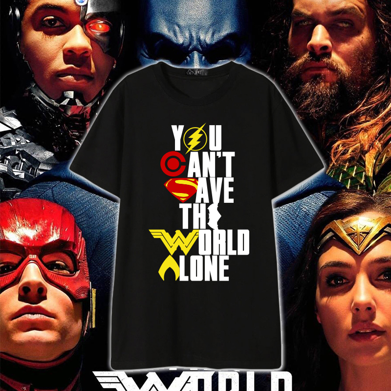[Stock]Movie Justice League Wonder Woman T-shirt cosplay tshirt Summer Cotton Top Tee Unisex Plus size Comic Con. Free shipping