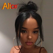 Brazilian Virgin Hair Straight Full Lace Wig Human Hair Lace Front Wigs Black Women Full Lace Human Hair Wigs With Baby Hair