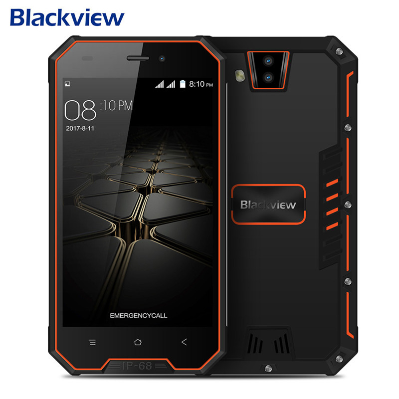 Blackview BV4000 Pro 2GB 16GB smartphone Android 7.0 MT6580A Quad Core 4.7inch 1280x720 IP68 Waterproof shockproof phone 3680mAh