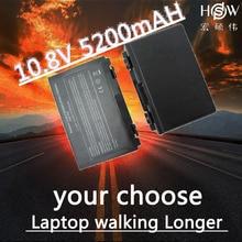 HSW 5200MAH 6cells Laptop Battery For Asus K50AB K70 A32-F52 F82 K50I K60IJ K61IC K50C K50ID k50IE K50IL K50IP K50X K51A K51AB