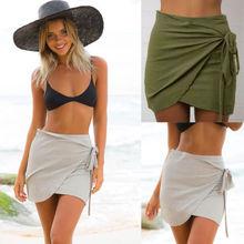 8bc92e9471 Summer Women Lady Beach Skirt Short Sarong Wrap Bikini Cover Up Mini Skirt  Swimwear Casual Skirts