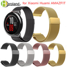 Wrist Strap for Xiaomi Huami Amazfit Watch Band Bracelet Milanese Loop Magnetic Straps for Xiaomi Huami Amazfit Pace Stratos 2 metal milanese loop band for xiaomi huami amazfit bip strap 20mm 22mm wrist band for amazfit gtr 47 47mm strap stratos 2 2s pace