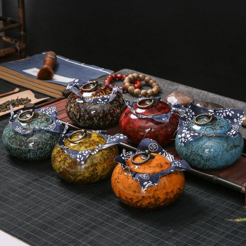 Plus ancienne Chinois Art Fambe Céramique Thé Boîte De Bonbons Sel Assaisonnement Collations Conteneur De Stockage Thé Culture Qualité De Stockage Bouteilles Bocaux