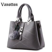 2016 Brand Design Women Handbag Casual Pu Leather Tote Bag Fashion Hasp Solid Color Shoulder High Quality Ladies Messenger Bag