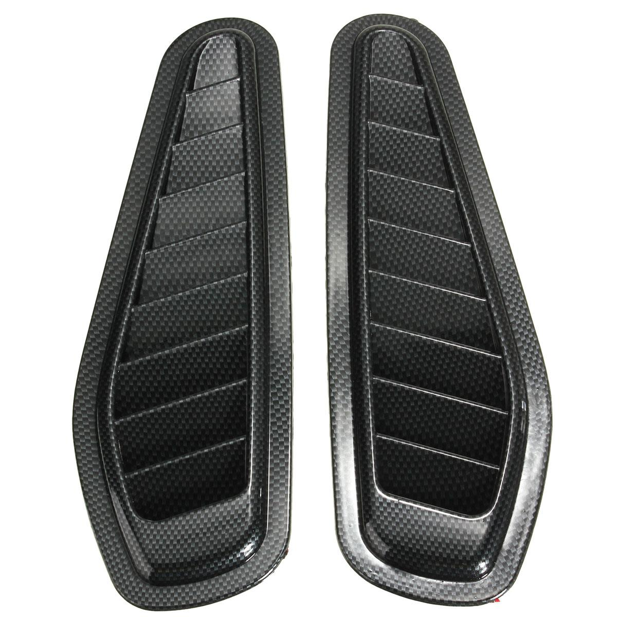New 2x Car Decorative Air Flow Intake Scoop Turbo Bonnet Vent Cover Hood for Fender 2017 side bonnet cover for mitsubishi l200 triton bonnet hood cover for mitsubishi 2016 for ycsunz
