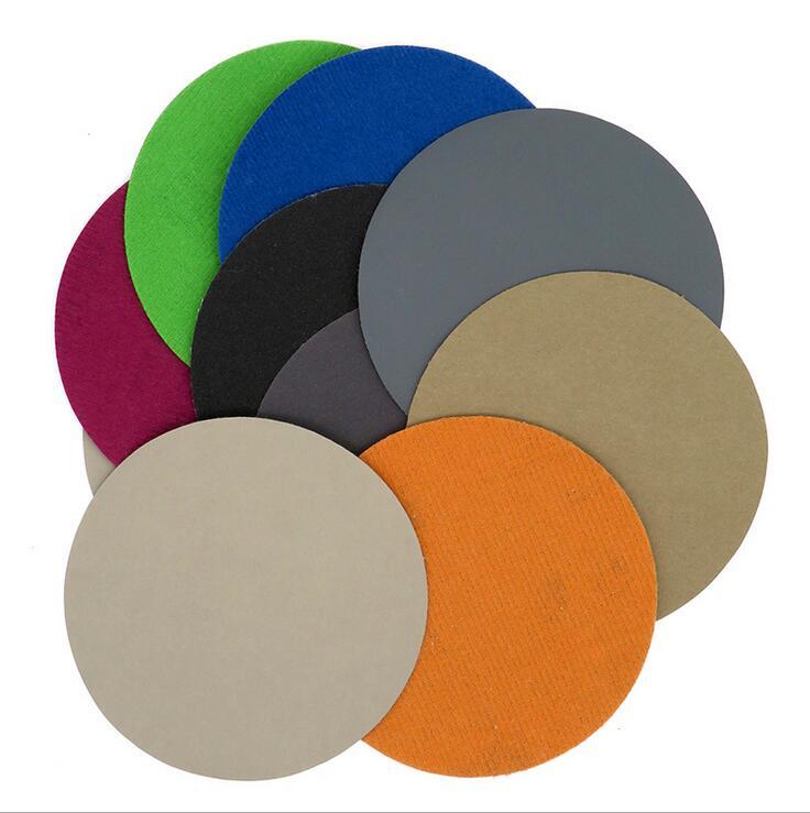 Image 2 - 30pcs 125mm  Grit 1000/1500/2000/3000/5000/7000 Water Wet Dry Sanding Discs Hook Loop Sandpaper Round Sandpaper Disk Sand Sheet-in Abrasive Tools from Tools