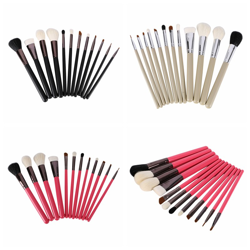 12Pcs Makeup Brushes Maquiagem Foundation Concealer Eyeshadow Naked Palette Paleta De Sombra Eyeliner Packing Cosmetic Tools women newthe balm california and colour that 9 colour cosmetics makeup eyeshadow palette paleta de sombra eye shadow