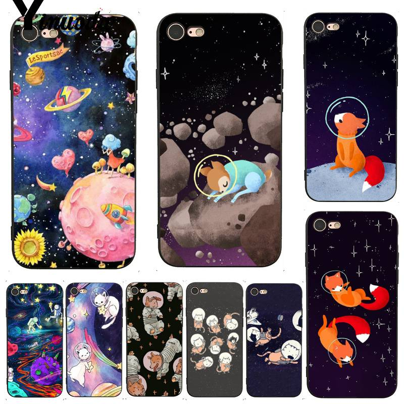 Cellphones & Telecommunications Phone Bags & Cases Yinuoda Cat Astronaut Dog Fox Space Moon Universe Coque Shell Phone Case For Iphone X Xs Max 6 6s 7 7plus 8 8plus 5 5s Xr
