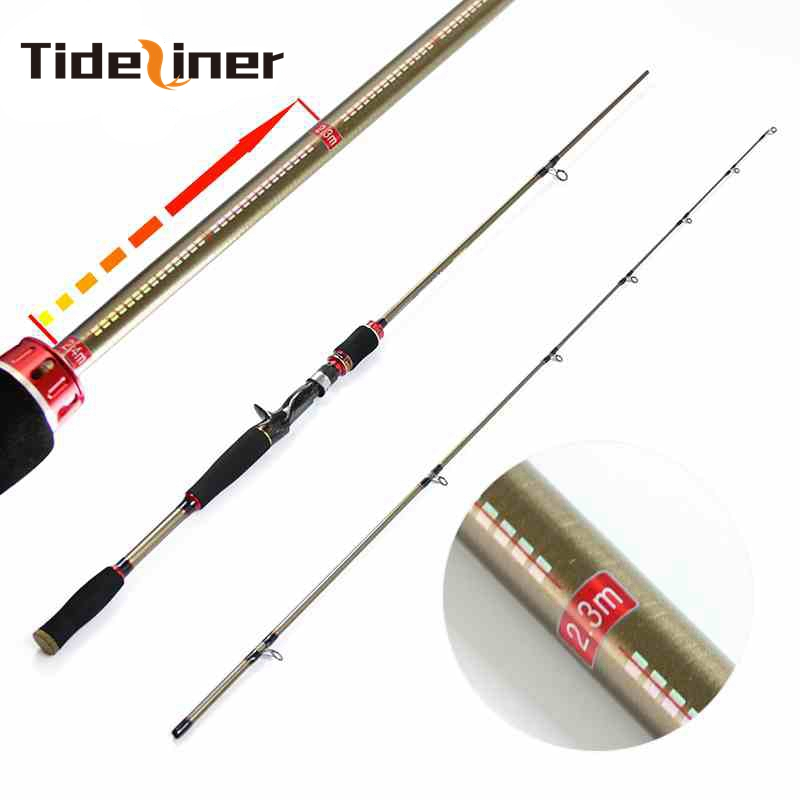 adjustable length 1 8m 2 1m 2 1m 2 4m MH power spinning casting baitcasting fishing