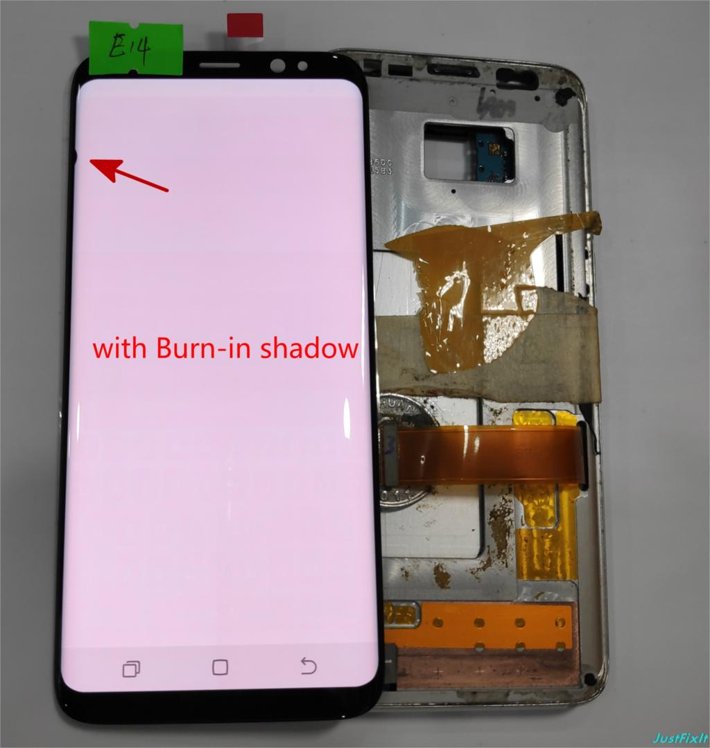NO E14 For Samsung Galaxy S8 G950 G950U G950f G950fd shadow Lcd Display With Touch Screen