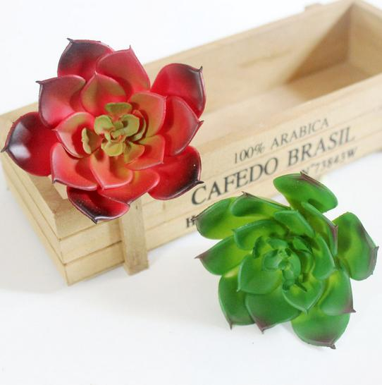 5pieces Simulation Succulents artificial flowers ornaments Artificial Succulents Plants garden decoration water lily