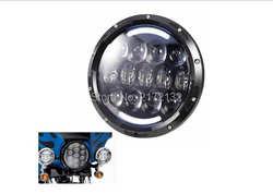 """1 шт. 105 Вт 7 """"LED HeadLight H/L луч Amber глаза ангела DOT Утвердил 7 inch круглые светодиодные головной свет для Harley"""