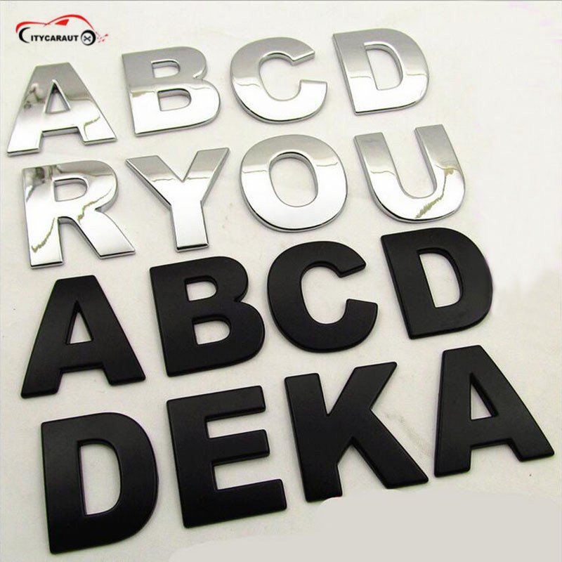 CITYCAR AUTO DIY car-styling 3D metal sticker car accessories alphabet  letters decal spell FIT for MINI ALL CARS