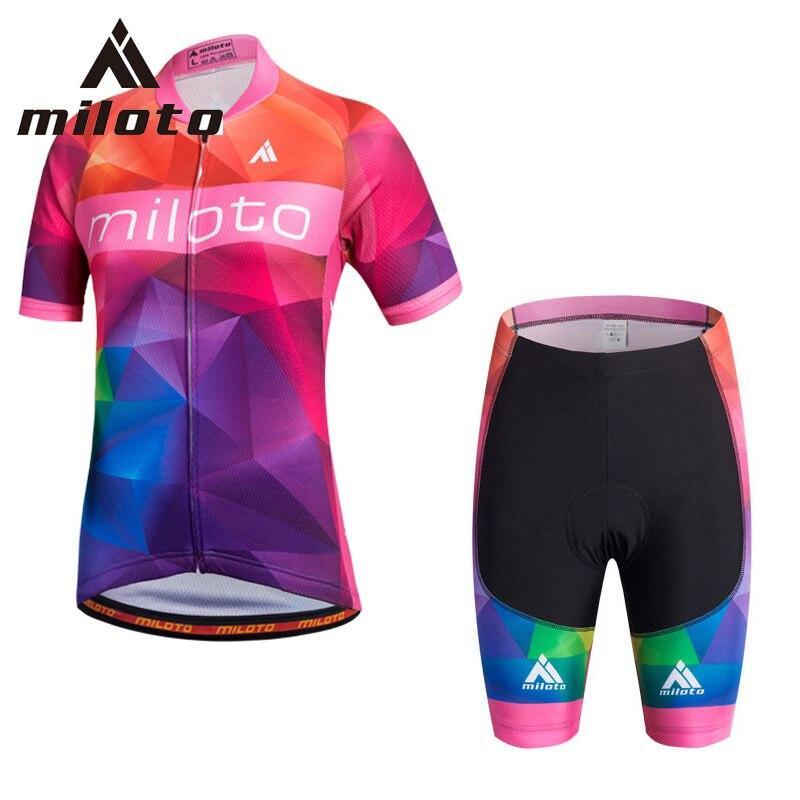 Miloto Women cycling set přizpůsobitelný Prodyšné Racing - Cyklistika