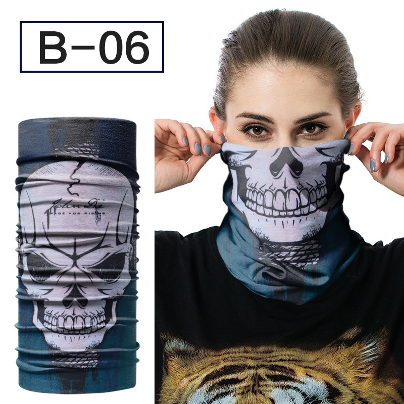 Bandana Scarf Ring-Scarves Tubular Neck-Gaiter Unisex Skull Magic Seamless Multifunctional