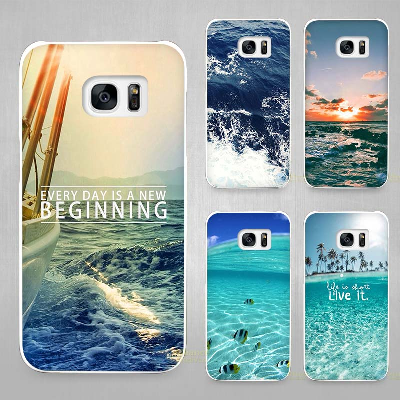 sea ocean hard white coque shell case cover phone cases. Black Bedroom Furniture Sets. Home Design Ideas