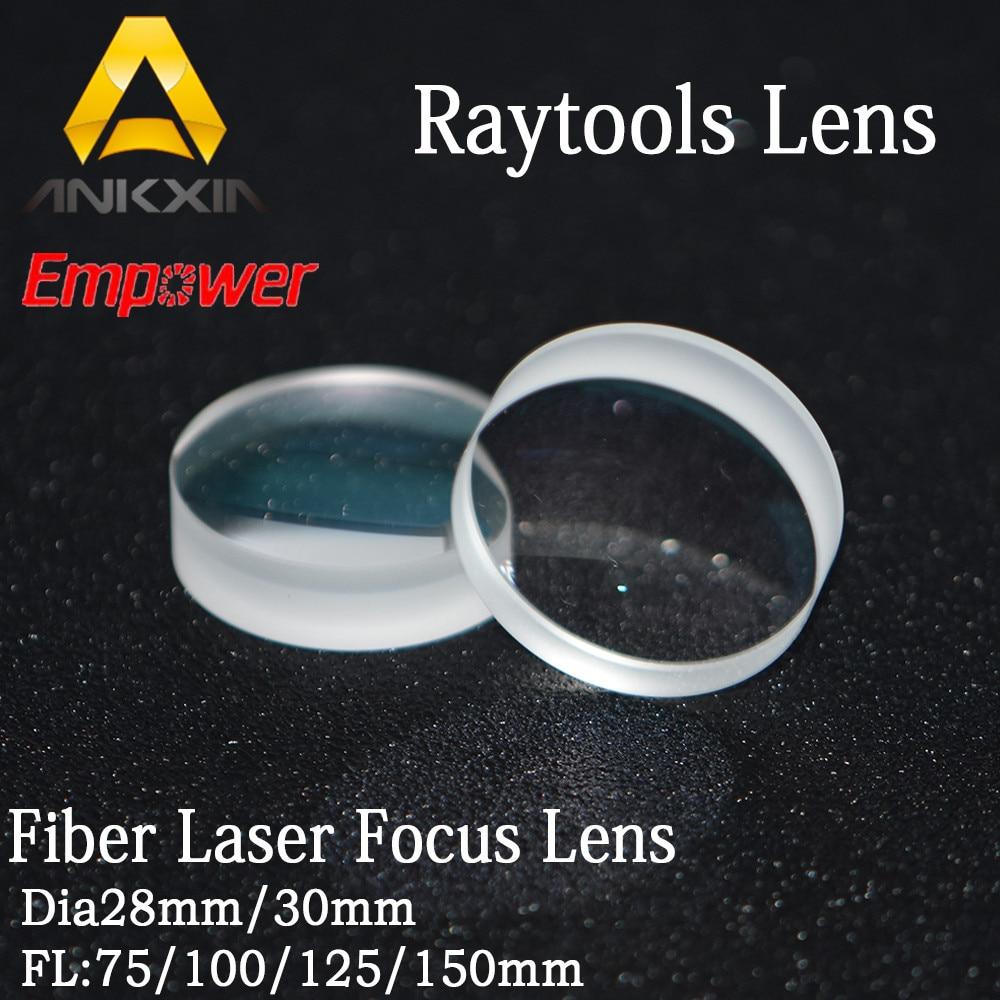 Raytools Collimator Lenses/Focus Lens For Fiber Laser Cutting Head BT230/BT240 D30mm F75/100/125/150/200 lskcsh fiber laser focusing lens collimator lens d28 f150 200mm for lasermech raytools fiber mini accufiber laser doublet lens