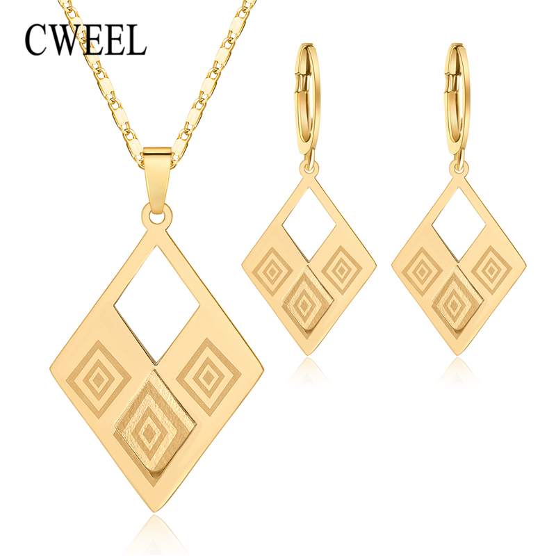 CWEEL Jewelry Sets For Women Elegant Party Gift Fashion Wedding Bridal Costume Necklace And Earrings Cheap Jewelry Set  sc 1 st  Albseroshop & Hot Sale CWEEL Jewelry Sets for Women Elegant Party Gift Fashion ...