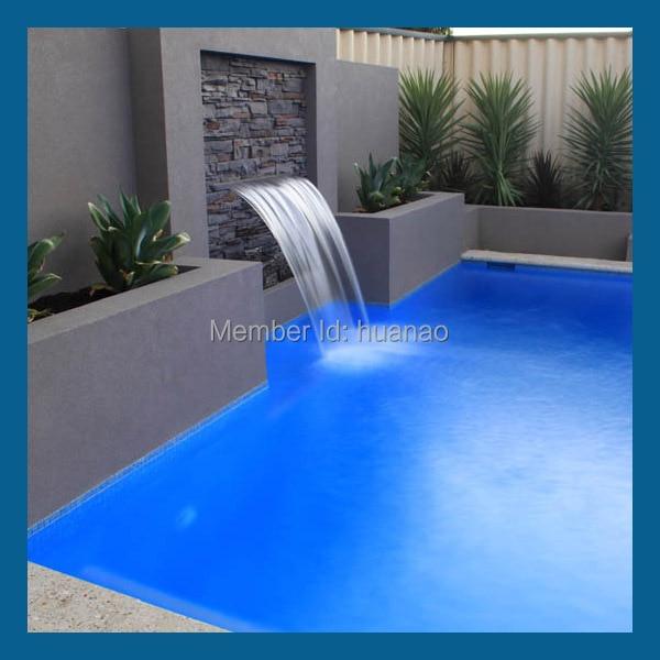 artificial swimming pool waterfall, swimming pool water blade ...
