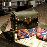 New Fashion Colorized Rivet Small Flap Bag PU Leather Crossbody Bag Women Luxury Designer Handbag Ladies
