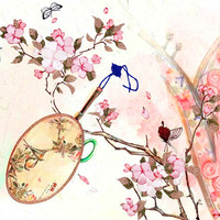 43X54cm Peach Butterfly DIY Ribbon Embroidery Fashion 3d Print Cross Stitch Kit Needlework Unfinished Wall Painting Craft Gift