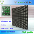 P6 открытый SMD полноцветный 192 * 192 мм 32 * 32 пикселей 1 / 8 scan привод hub75 порта SMD 3in1 водонепроницаемый rgb из светодиодов дисплей модуль