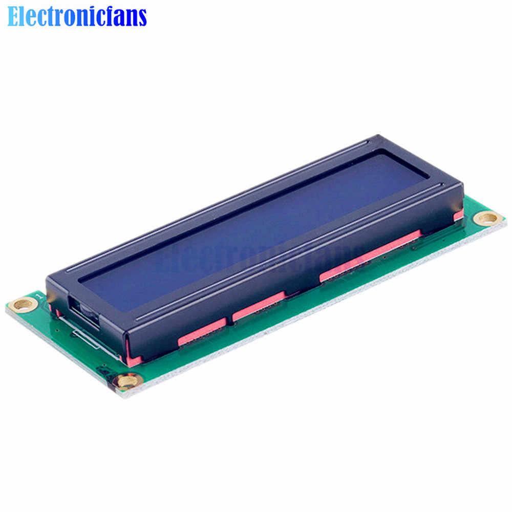 10 개/몫 lcd1602 1602 lcd 블루 스크린 문자 lcd 디스플레이 블루 블랙 라이트 tft 16x2 lcd 모듈 dc 5 v 80mm * 35mm * 11mm