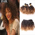 11.11 Promotion Ombre Malaysian Virgin Hair Spiral Curly Women Wigs Wet Wavy Jerry Curl AliExpress Spark Mocha Hair Extensions