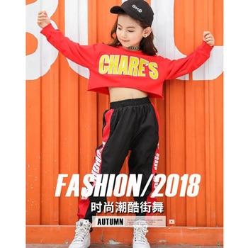 c148a849c46 Niños recortado sudadera camisa Jogger pantalones Hip Hop ropa trajes Jazz  danza disfraz niñas niños salón baile calle desgaste
